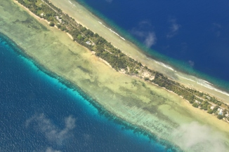 Landing into Marshall Islands