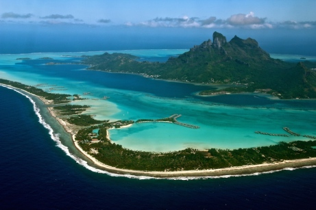 Landing in Bora Bora