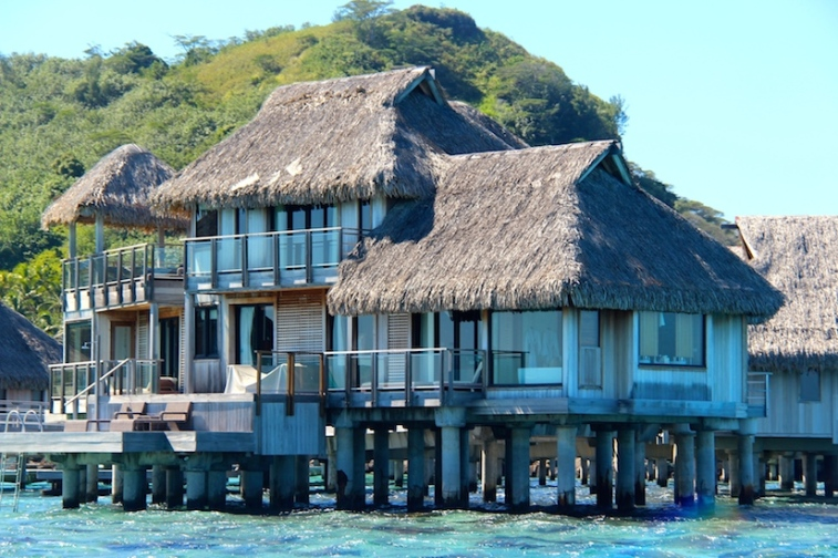 Multi-storey over-water bungalows