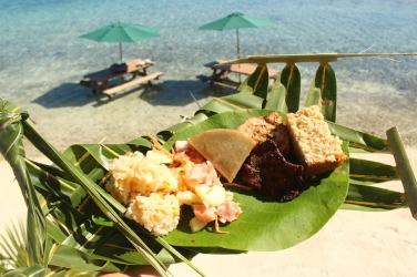 Delicious Tahitian food.