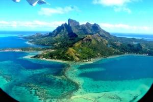 Landing into Bora Bora Airport