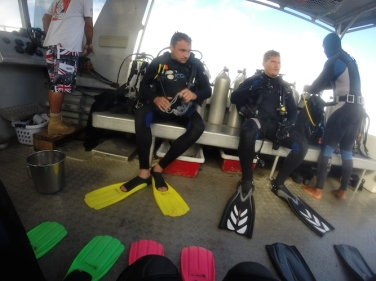 Getting ready for a first dive