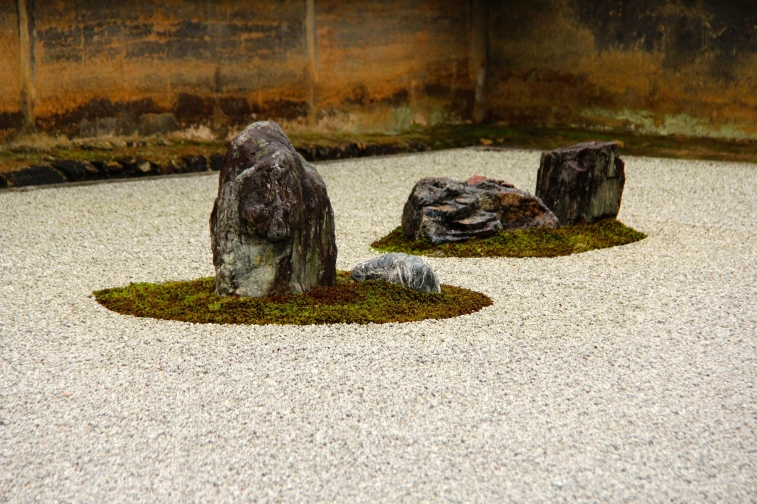 The most famous zen garden in Ryoanji Temple