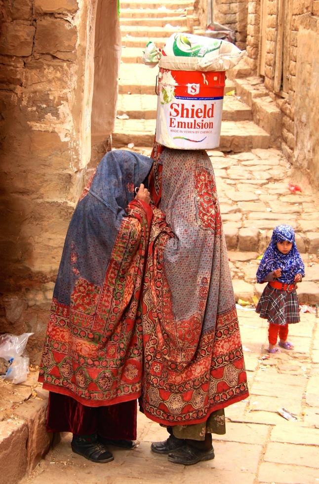 My most favourite photo from Yemen. Two women gossiping in secret.