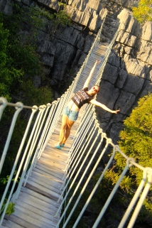 Rope bridge fun