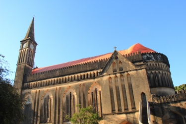 The Anglican cathedral of Christ Church, next to the former, biggest slave market of Zanzibar.